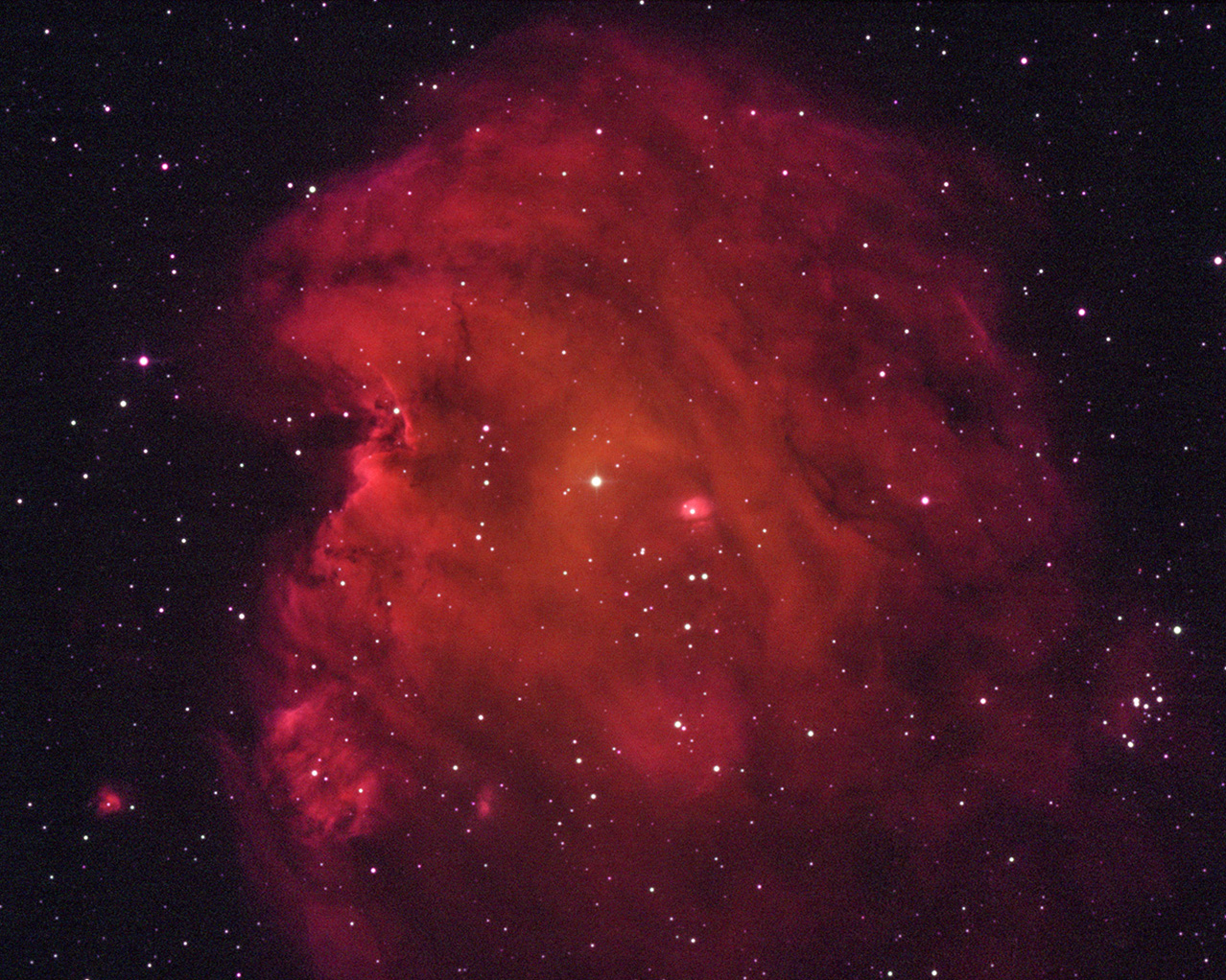 Monkey Head Nebula SH2-252 in the constellation of Orion.